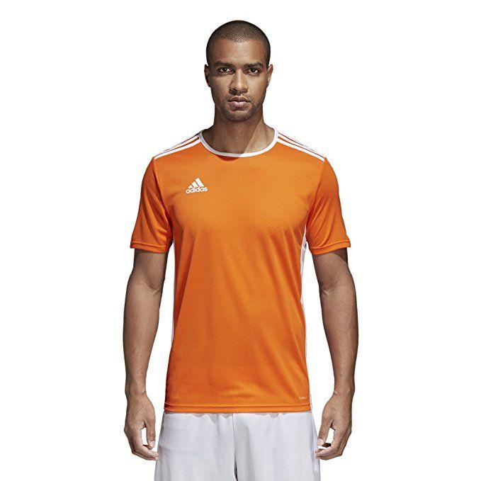 low priced details for pick up adidas Men's Soccer Entrada 18 Jersey, Orange/White, Large ...