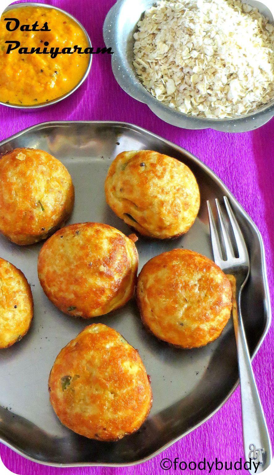 khara paniyaram with oats