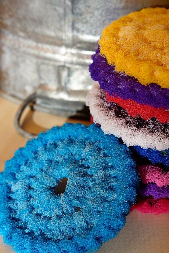 Nylon Netting Dish Scrubbies Crocheted By Allsylviascreations
