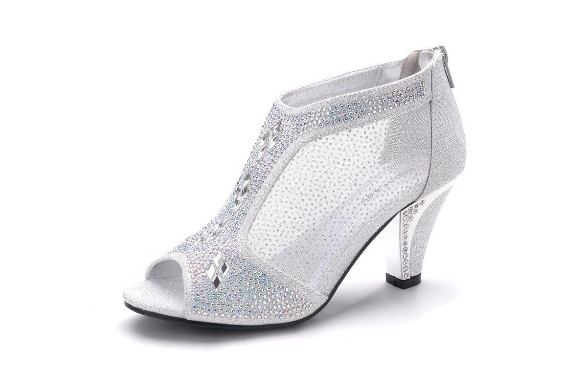 Mila Lady Women S Lexie Crystal Dress Heels Low Heels Wedding Shoes M Kimi26 Wedding Shoes Heels Low Heels Wedding Dress Shoes Womens [ 800 x 1200 Pixel ]