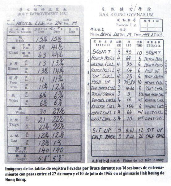 Bruce Lee's Workout Journal | Workouts | Pinterest | Workout ...