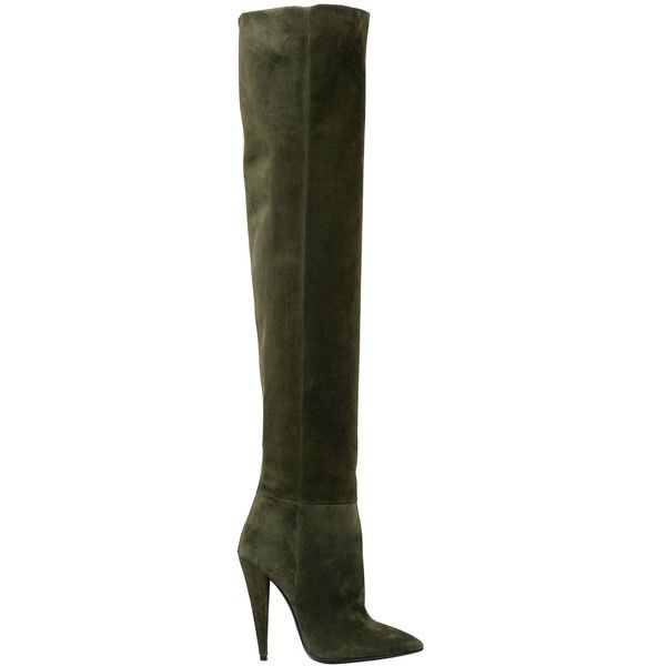 Womens Era Suede Over-The-Knee Boots Saint Laurent drD4Ac