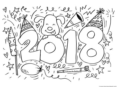 2018 para colorear