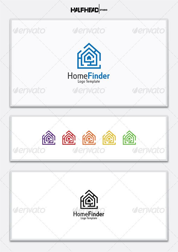 HomeFinder Logo Template U2014 Vector EPS #rent #app U2022 Available Here → Https: