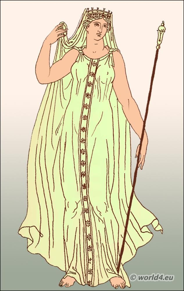 Demeter with clasp-fastened chiton and veil | Grčka ...