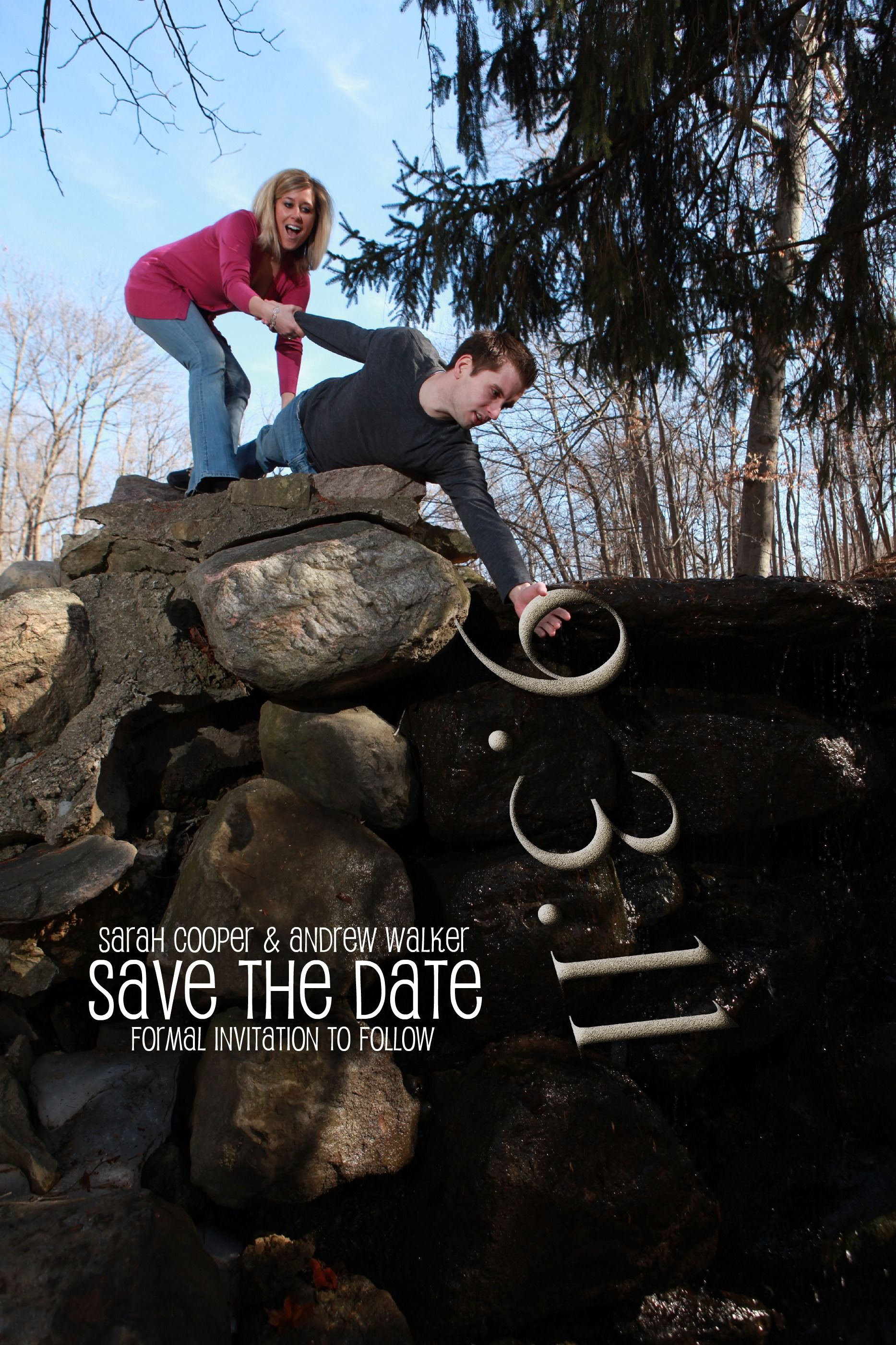 Our 'Save the Date!' Get it?! ) Save the date, Wedding