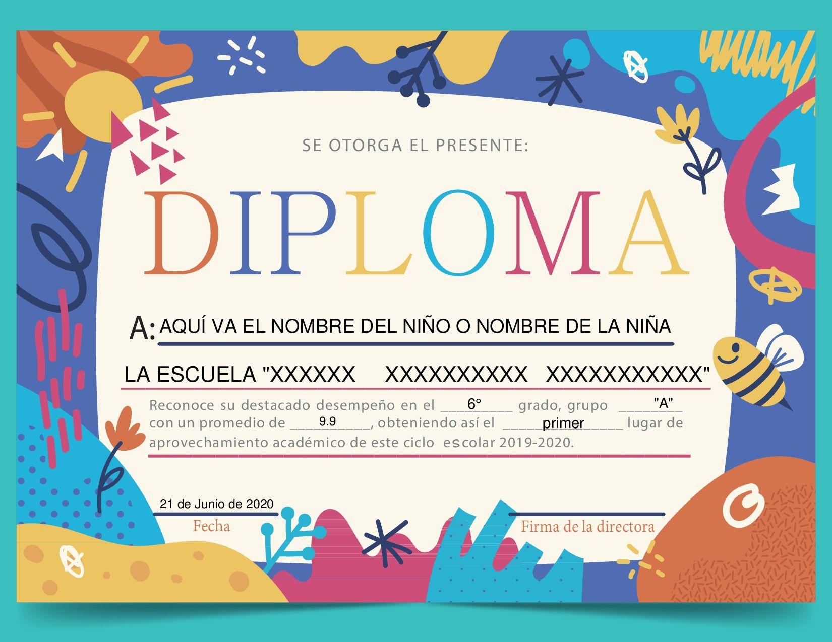 Diploma Naturaleza Diseno De Diplomas Formatos De Diplomas Diplomas Formatos de diplomas por aprovechamiento