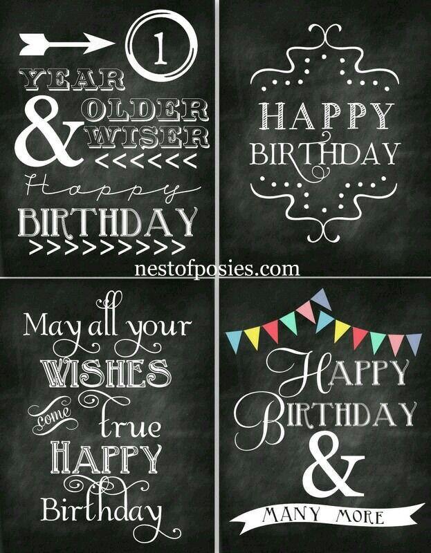 Letreros Happy Birthday Chalkboard Free Birthday Printables Chalkboard Printables