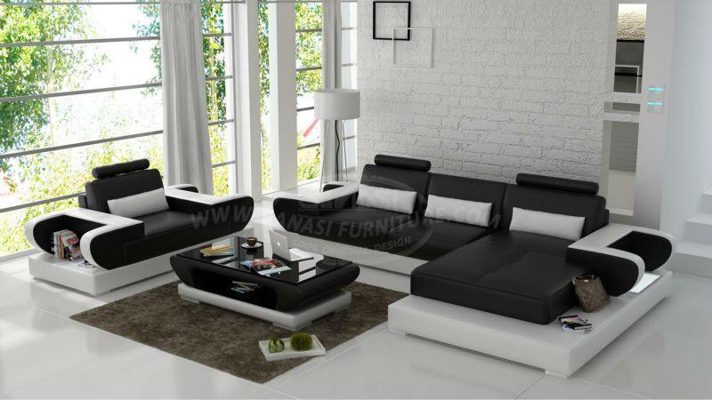 L Förmigen Innen Lounge Möbel Omega Leder Möbel Lokale