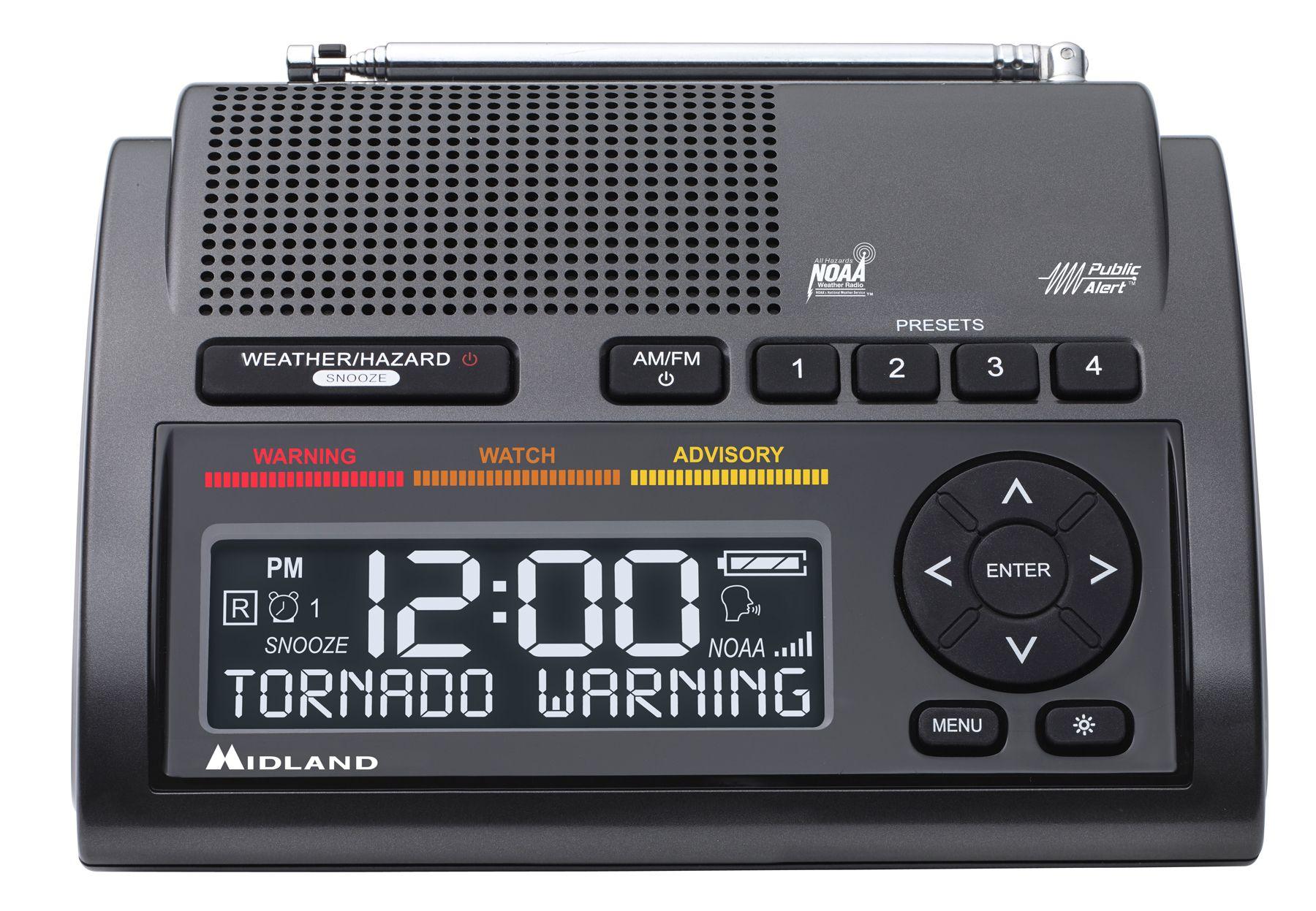 Midland Radio Wr400 Deluxe Noaa Weather Radio Noaa Weather Radio Weather Radio Weather Alerts