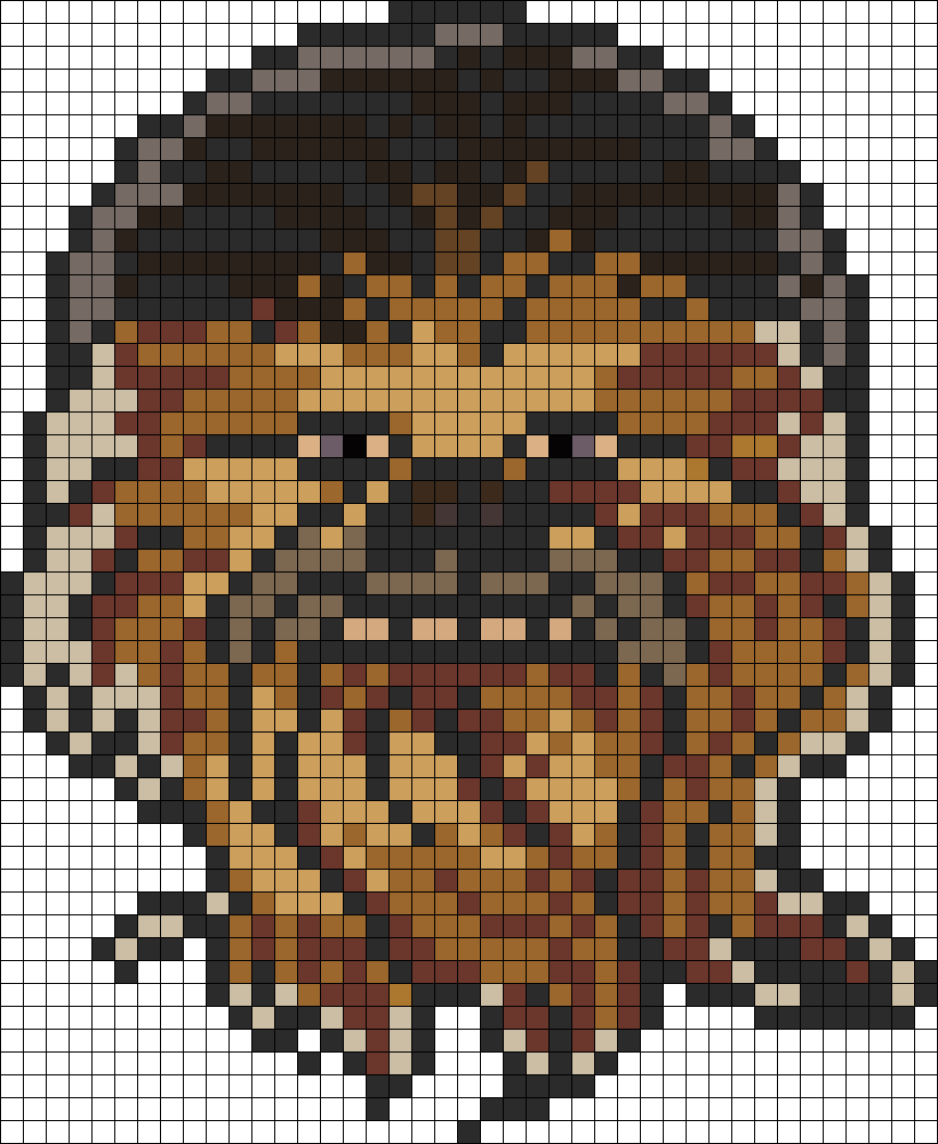 Star Wars Chewbacca Perler Bead Pattern Geburtstag Pinterest