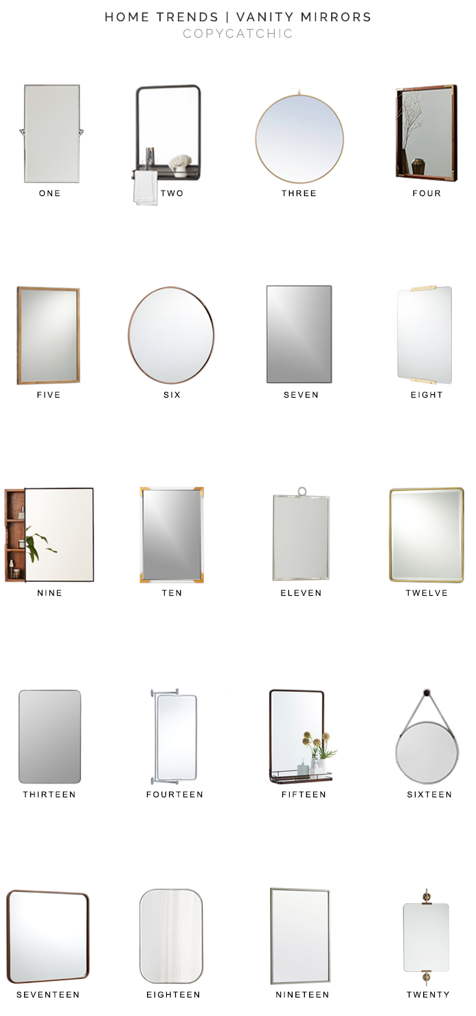 Home Trends | Vanity Mirrors - copycatchic