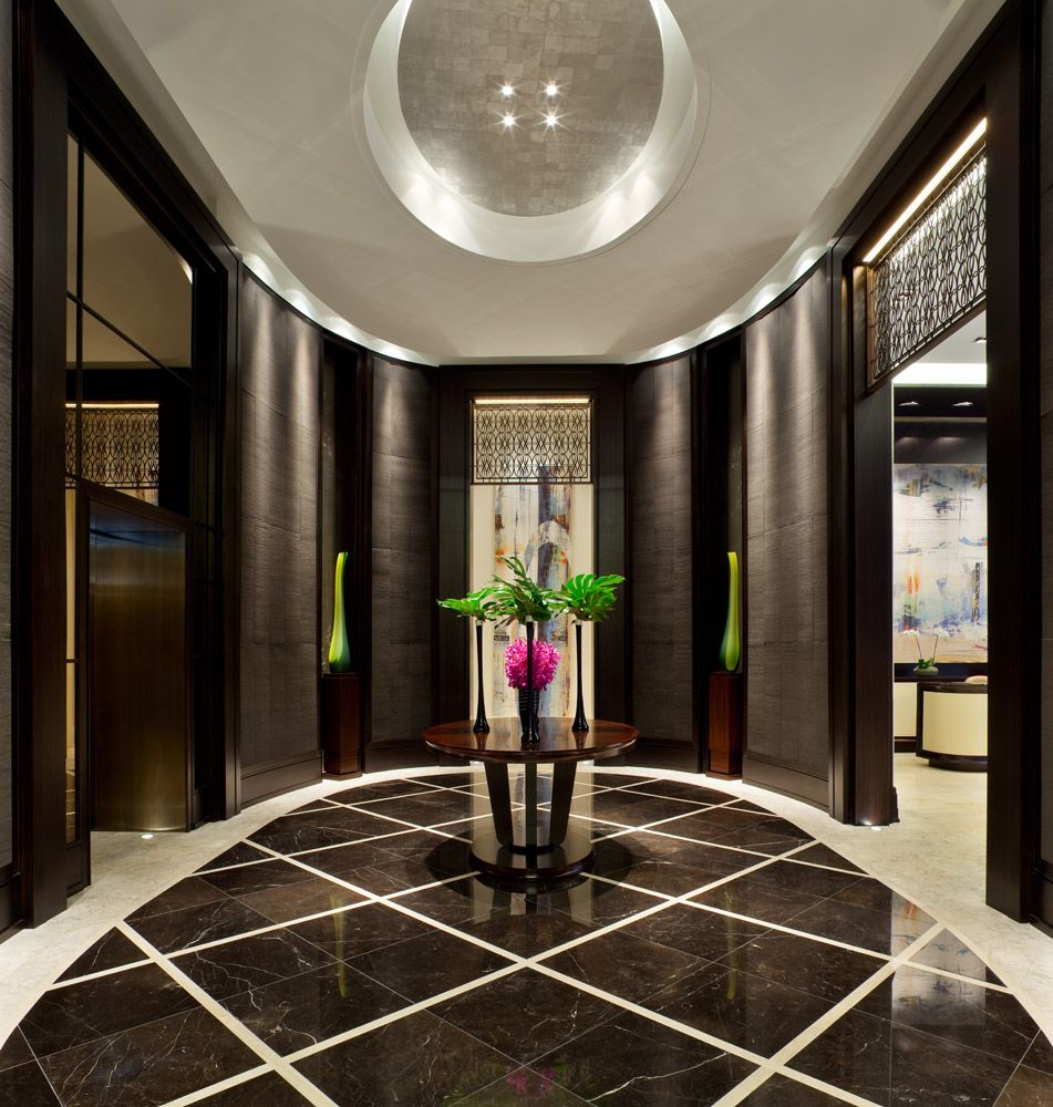 Suites At The Ritz Carlton Foyer Design Modern Home Interior