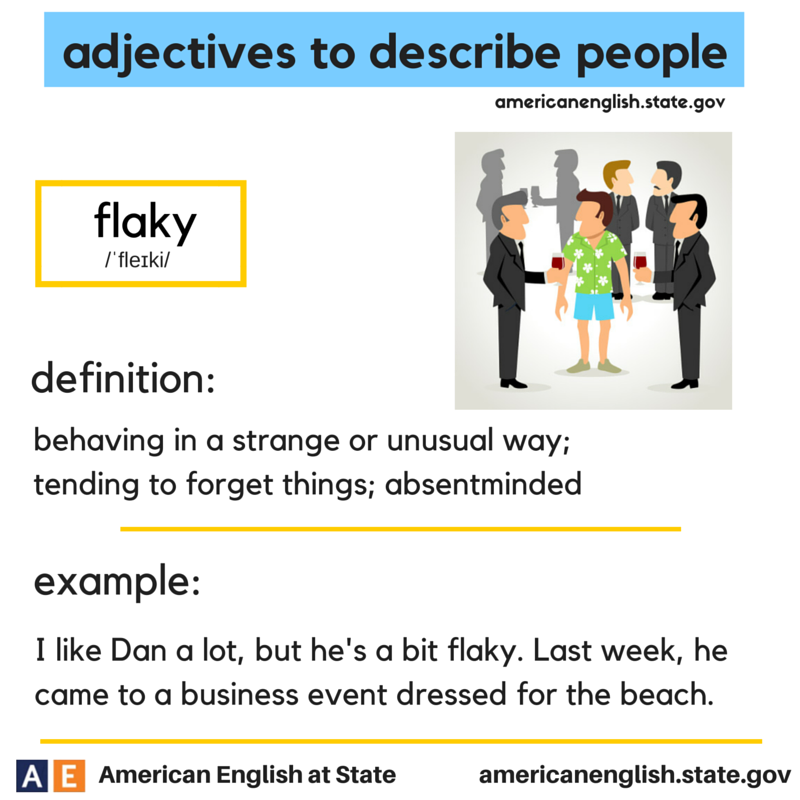 adjectives to describe people: flaky | ENGLISH | Learn
