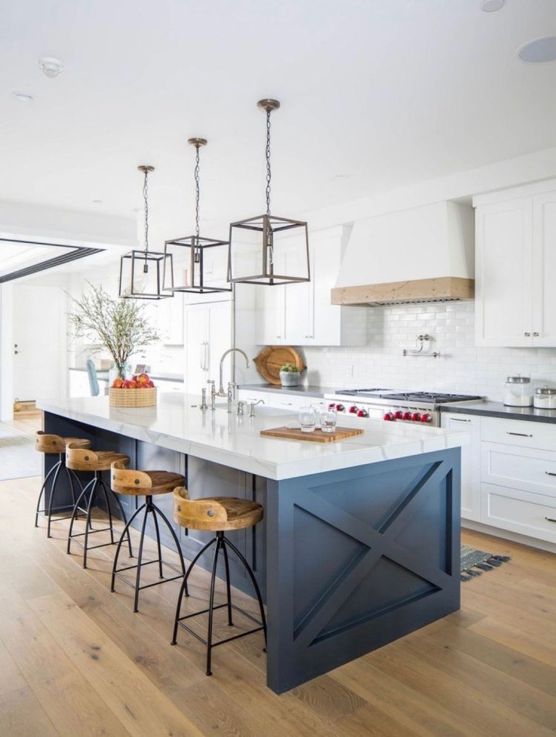 Pin By Kimberley Minier On Franklin House In 2019 Blue Kitchen