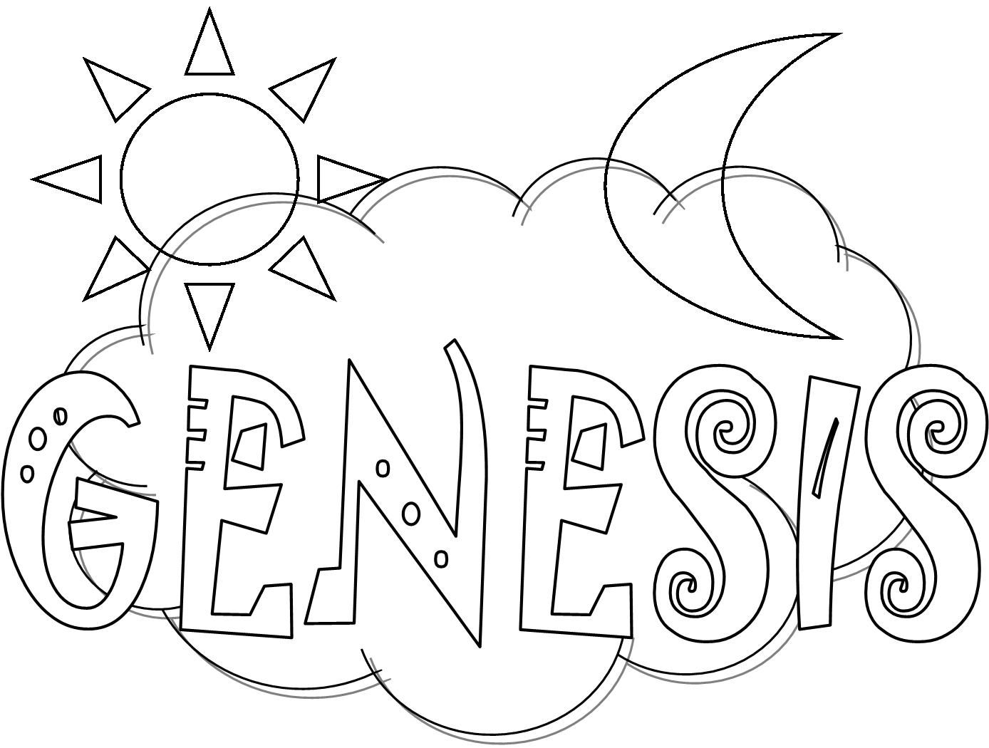 Blecoloringpagesforkids Books Of The Bible Genesis Coloring Page For Kids