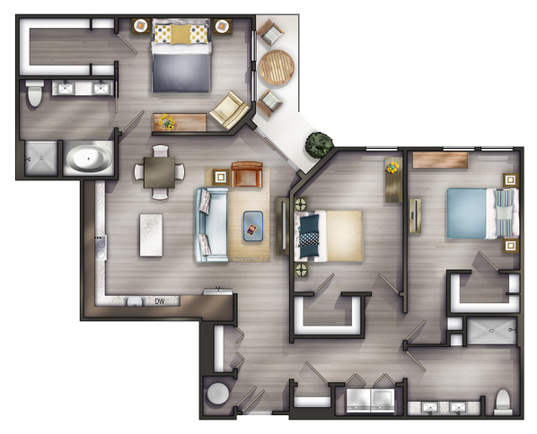 Studio Apartments Nashville Peyton Stakes Luxury Apartments C1