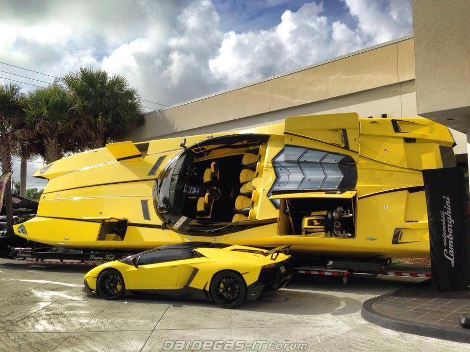 """Raging Bull"" - Lamborghini Aventador Car & Boat - Boat $1.3 million - Car $750,000.00 Aventador LP720-4 Roadster Limited Edition"