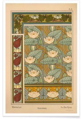 Eugene Grasset - Water-Lily 08 - Vintage Art Archive ...