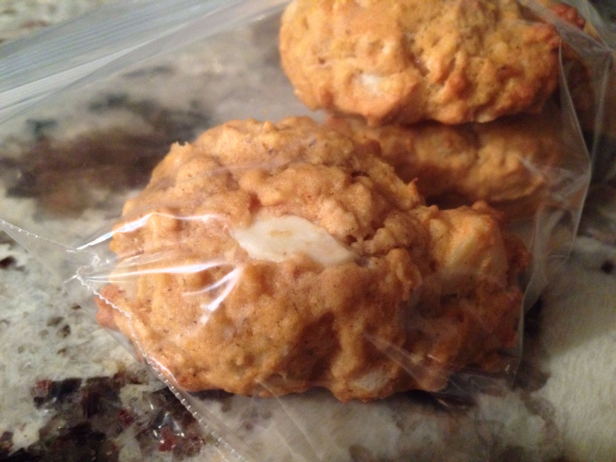 White Chocolate macadamia nut pumpkin cookies I baked - recipe from closet cooking. Very yummy