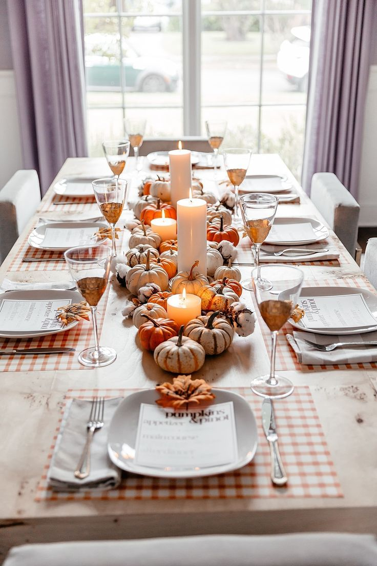 Brighton Keller Dining Room Fall Theme Tablescape Home Style W Thanksgiving Dinner Party Thanksgiving Dinner Table Decorations Thanksgiving Table Decorations