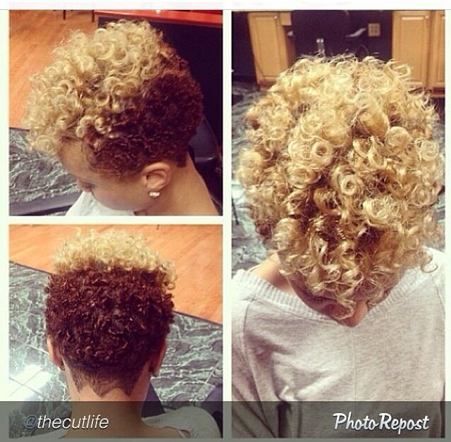 Love The Natural Curls And Beautiful Color Short Hair Pinterest