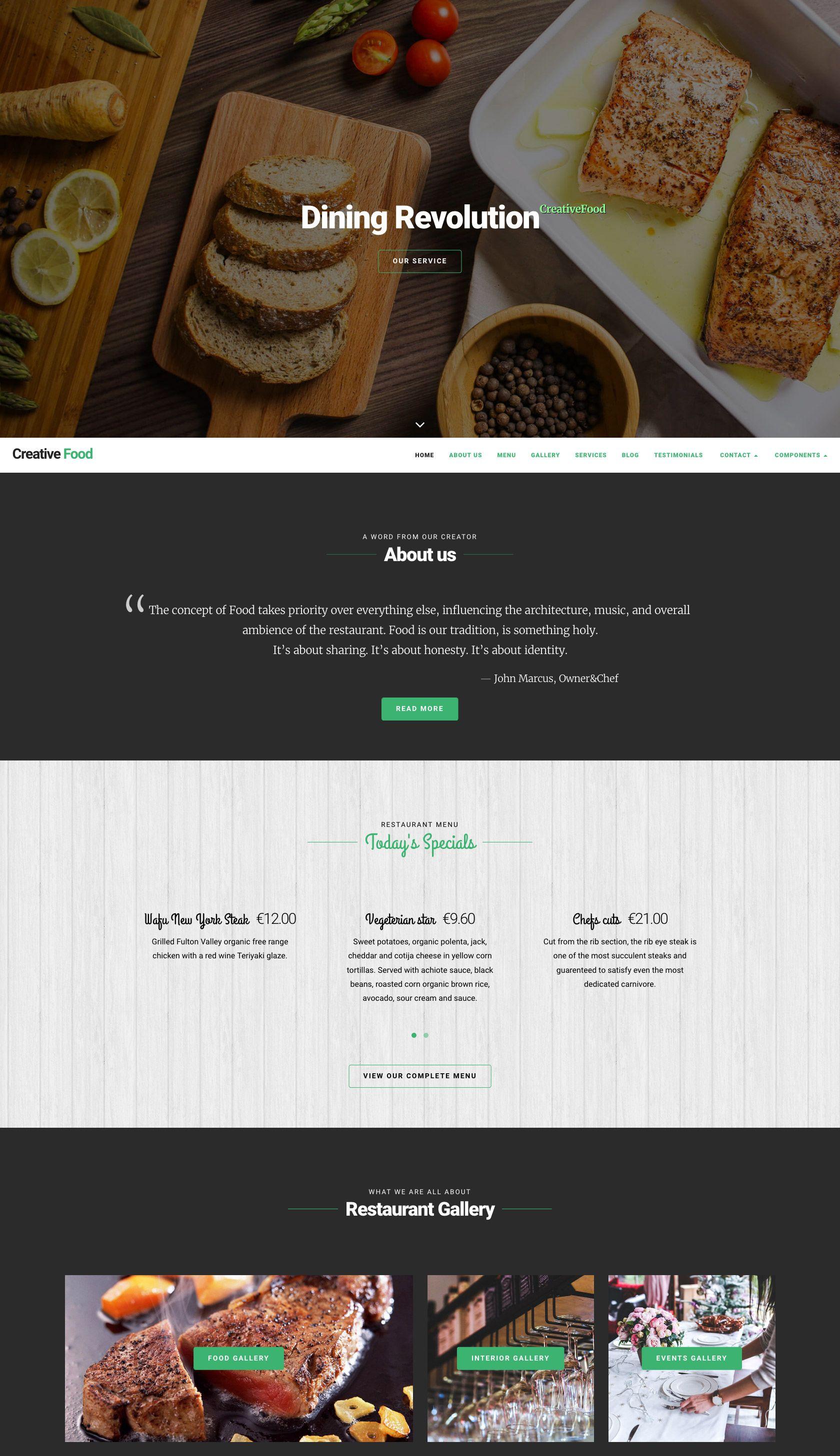 Nivin Website Template For Restaurant Business And Wedding Needs