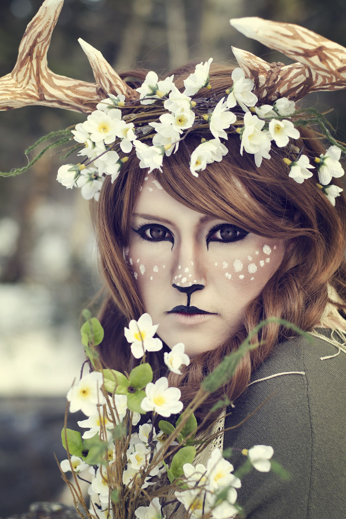 deer makeup | Tumblr | Halloween | Pinterest | Deer makeup, Makeup ...