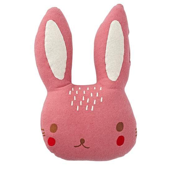 Bunny Throw Pillow | The Land of Nod | Flora Waycott - my ...