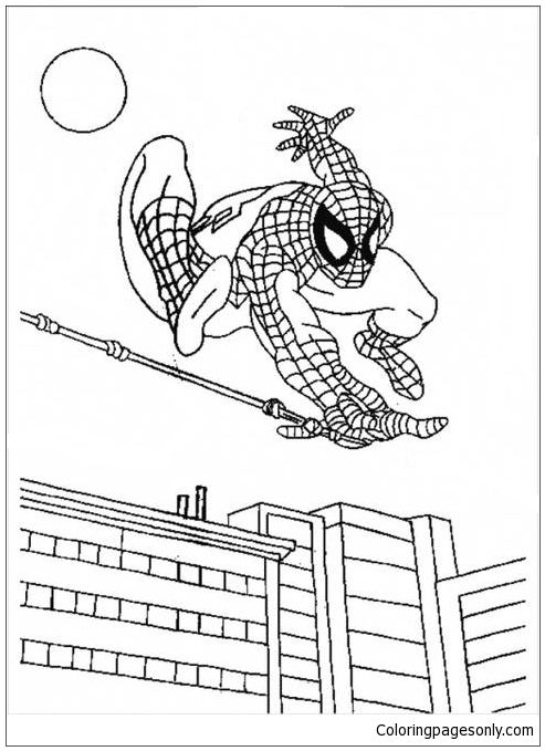 Spectacular Superhero Spiderman Coloring Page | Spiderman Coloring ...