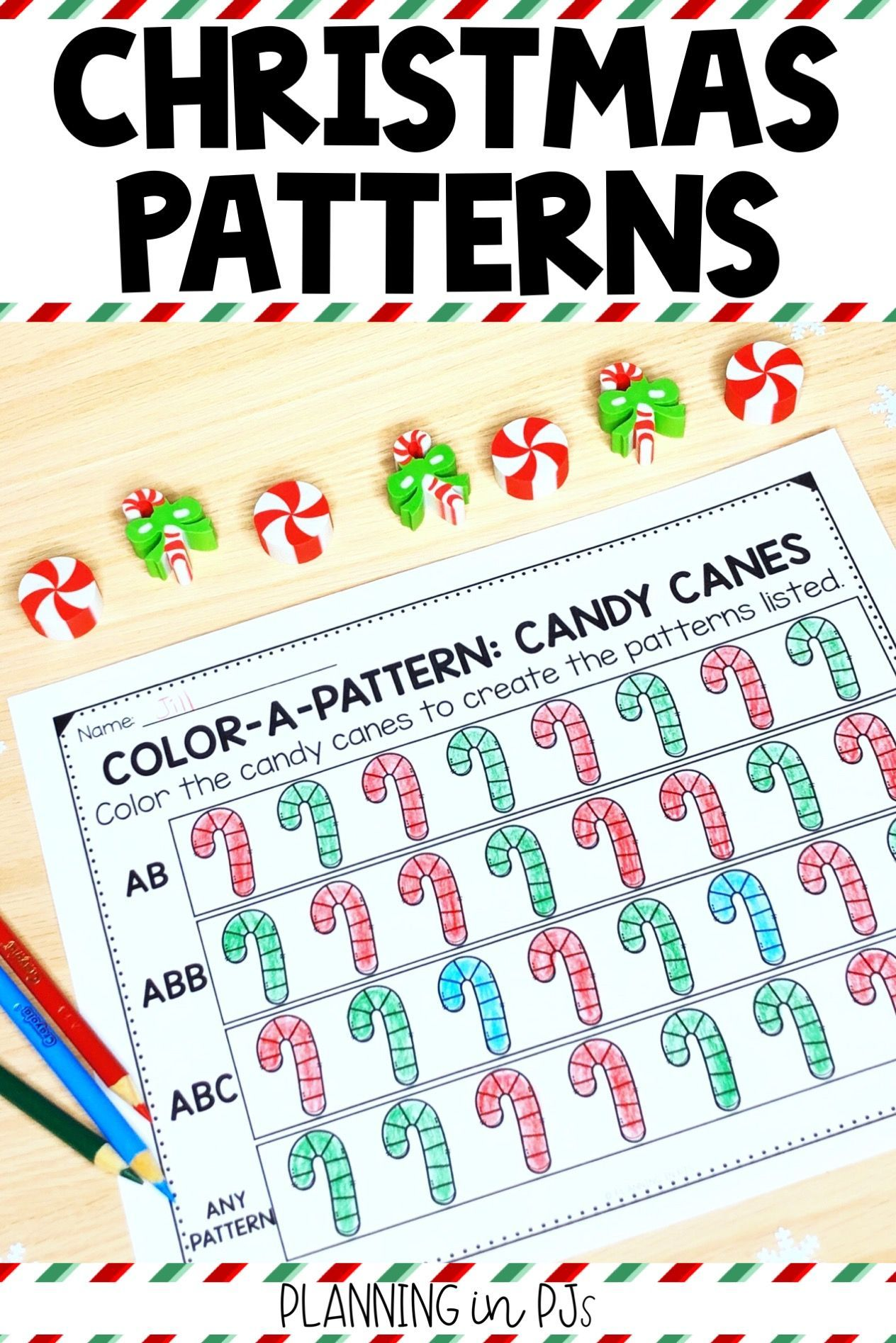 Christmas Color A Pattern Pattern Christmas Pattern Christmas Images To Color [ 1895 x 1264 Pixel ]