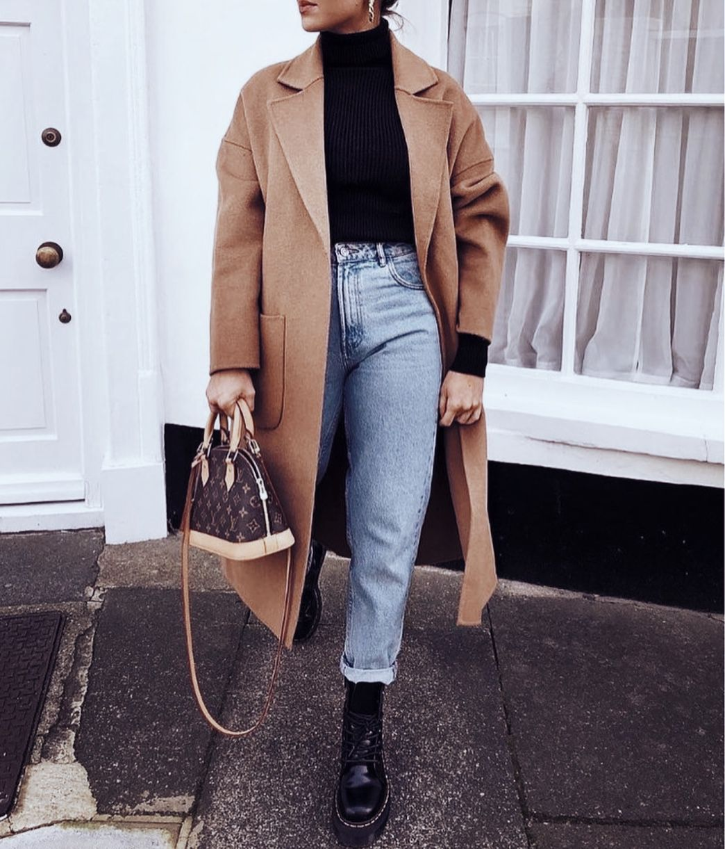 Photo of # fashion #style #fblogger #instagram #camelcoat #jeans