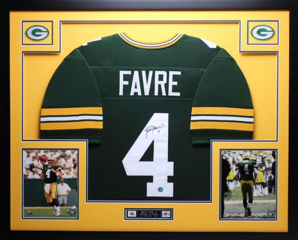release date: b3756 c100c Brett Favre Signed Packers 35