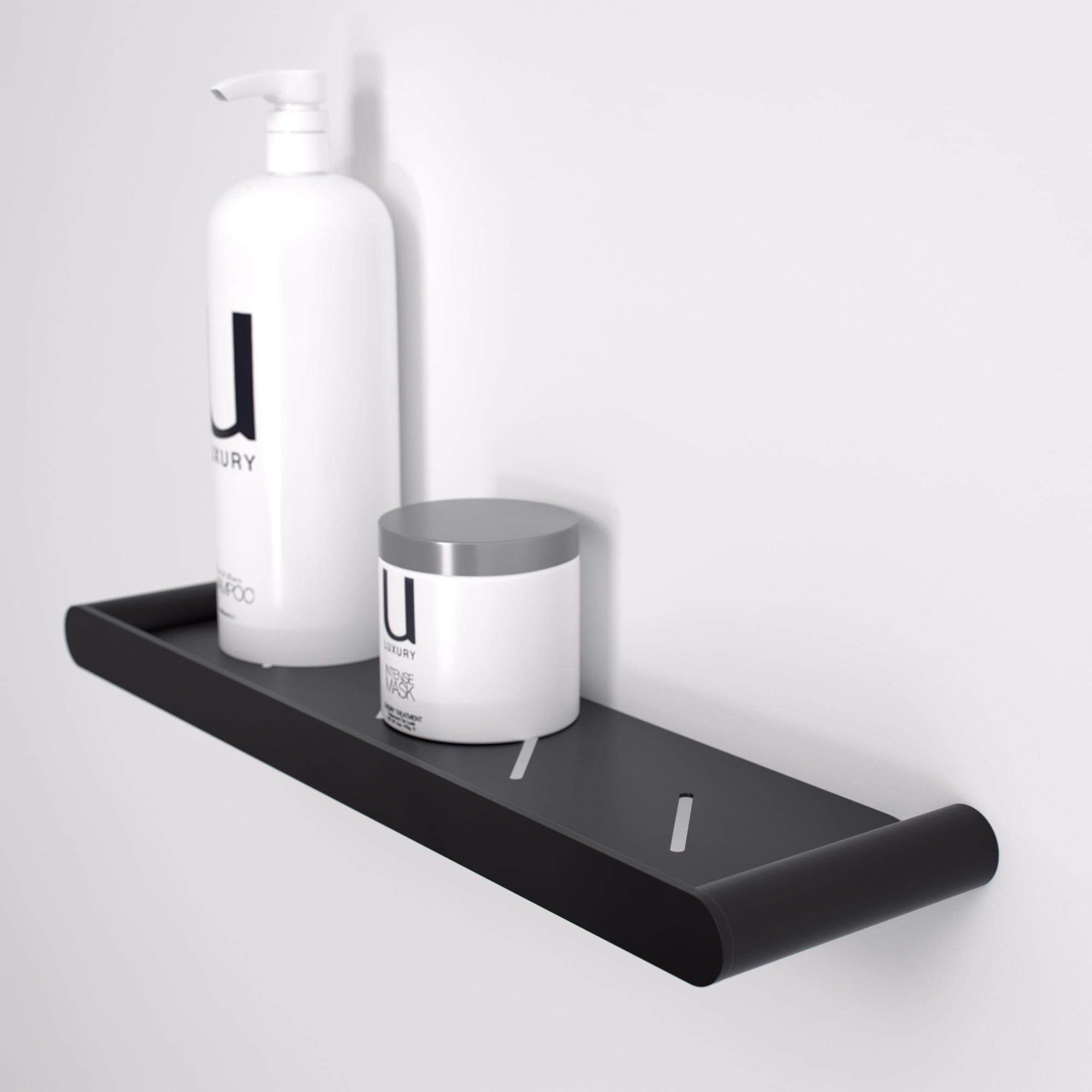 Luxe Matte Black Bathroom Shower Storage Shelf Shower Shelves