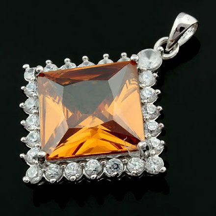 Hot Sale Fashion Korean 100% 925 Sterling Silver Jewelry Zircon Pendant