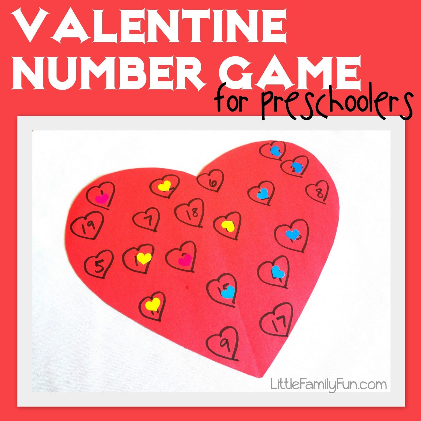 Cut A Heart Shape Out Of Construction Paper Draw 20 Hearts On It And Write The Numbers 1 20 In
