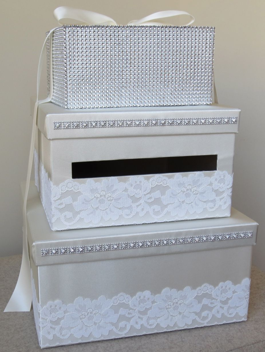 Wedding Money Box Lace [box #7] | Money box | Pinterest | Wedding ...