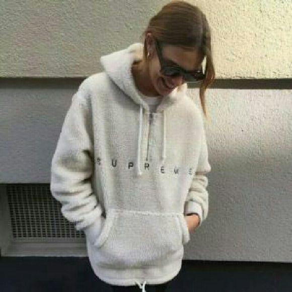 ff38e7bc3 Supreme wool hoodie 100% cotton, very rare Supreme Tops Sweatshirts &  Hoodies