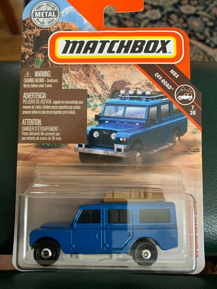 2019 Matchbox 64 1965 Land Rover Gen ll Blue SUV MBX Off