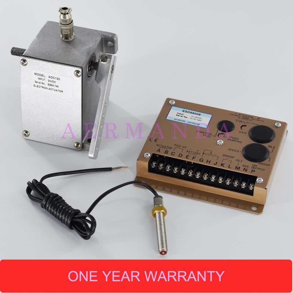 Generator parts ADC120 12V or 24V actuator+ESD5500E speed