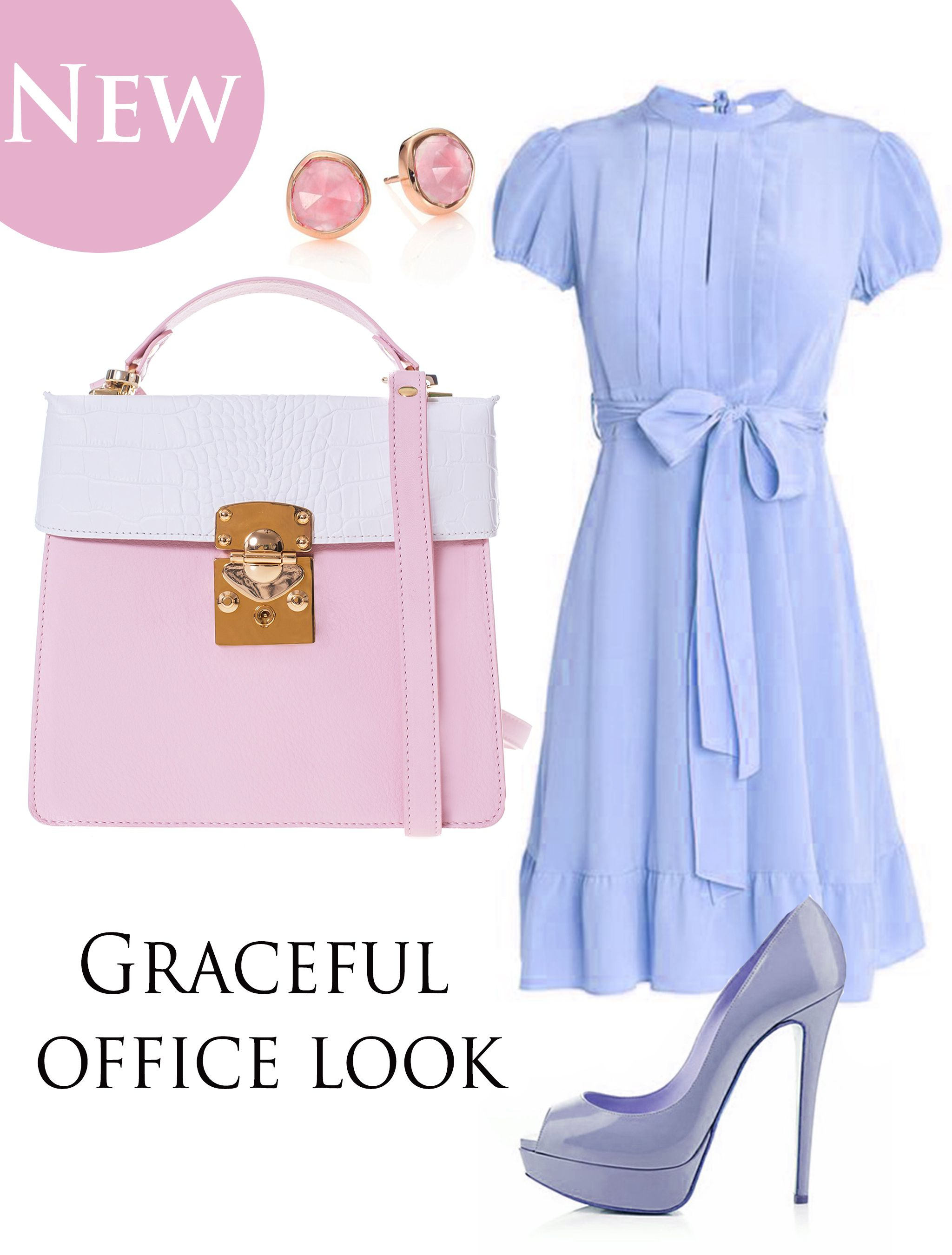 The new Amanda bag' s sweet pastel shades delicately blend with your feminine dress so as to create a perfect chromatic harmony. Pair it with high heels and you'll get an impressive seductive look and an imposing air at work.