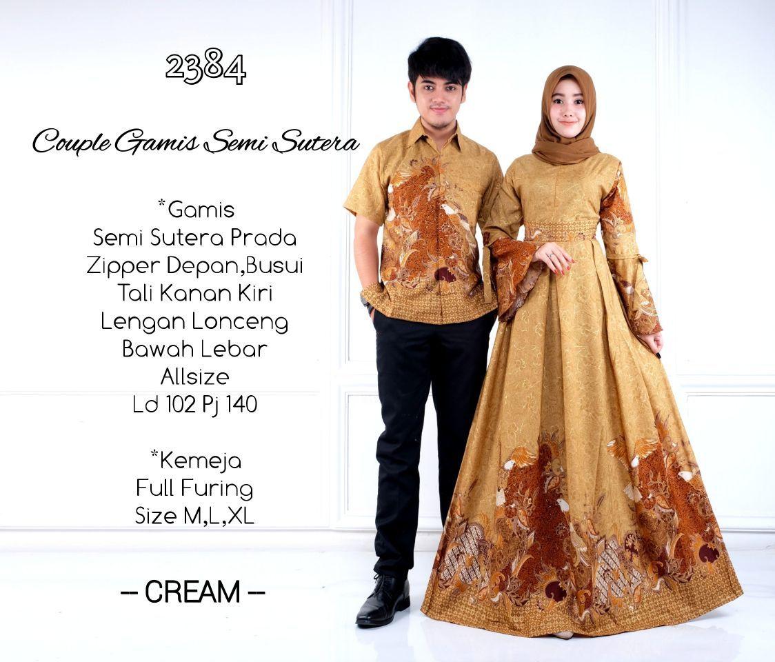 Model Baju Batik Gamis Couple D9 Semisutera 9  Gaun formal