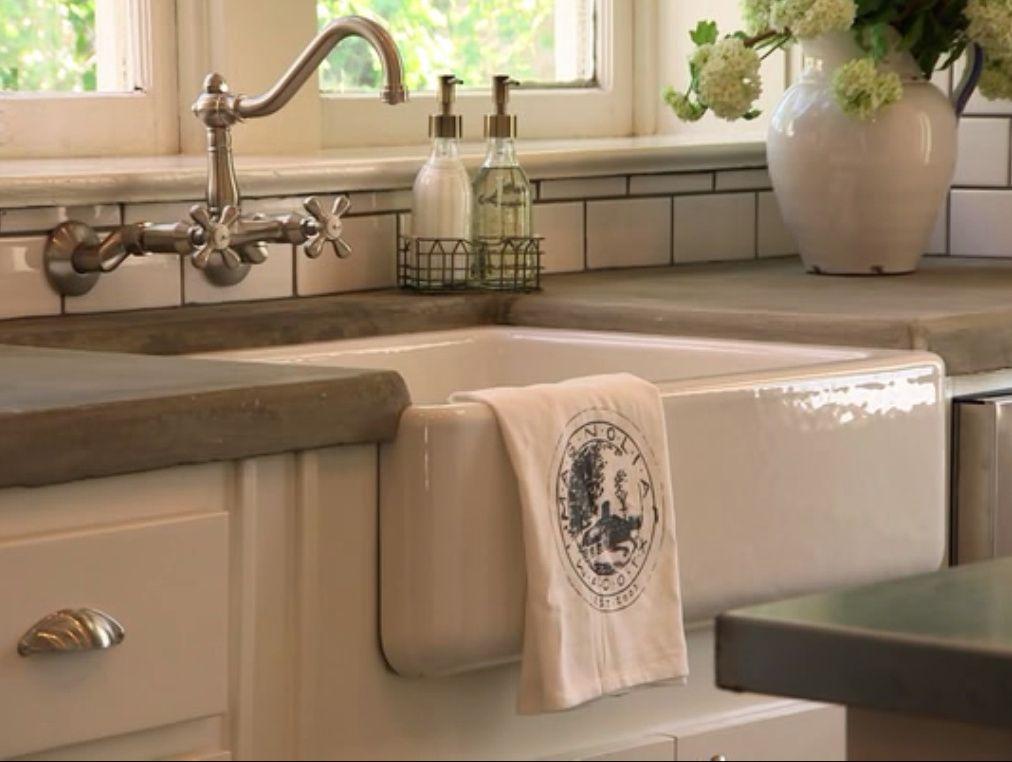 Farm Sink Concrete Countertops Kitchen Pinterest
