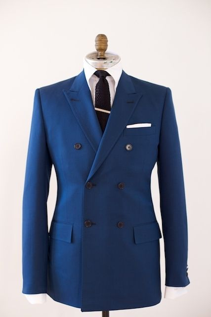 """Another David Reeves suit. With everyone enthralled by the """"Mad Men"""" look, wearing double breasted suits seem like a good way to stand apart from the crowd."""