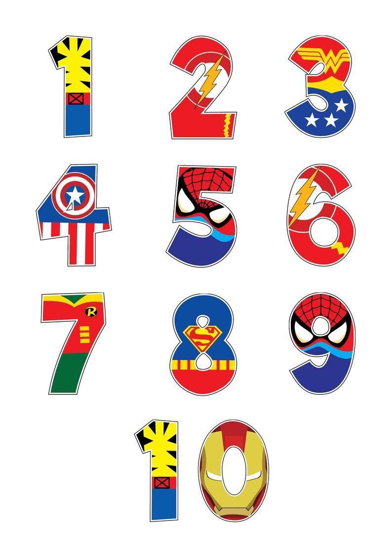 Cartel De Los Numeros De Superheroes Impresiones De Numeros Etsy Alfabeto De Superheroes Cumpleanos De Super Heroes Cumpleanos Hombre Arana