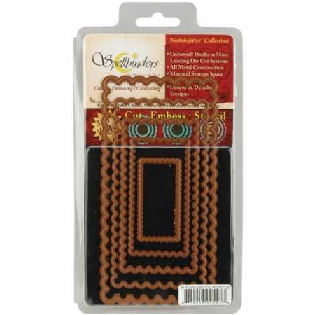Amazon.com: Spellbinders S4-143 Nestabilities Large Long Classic Scalloped Rectangles Die Template: Arts, Crafts & Sewing