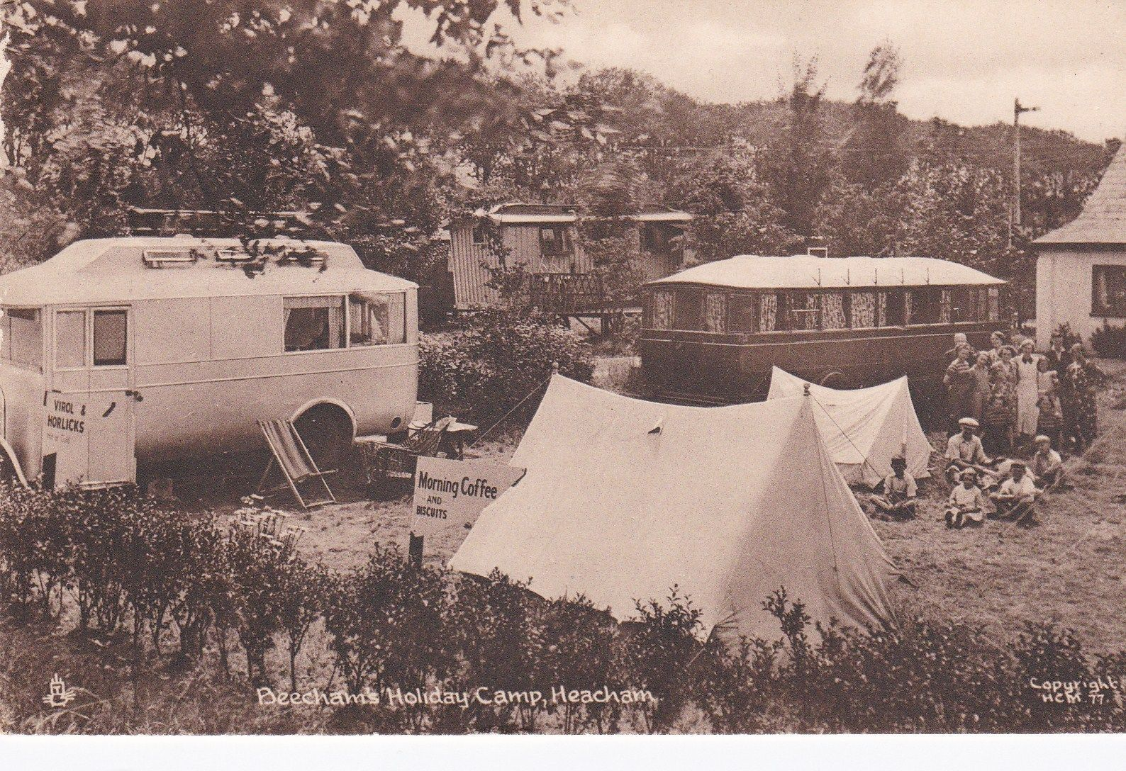 Beechams Holiday Camp Heacham.fab. mordern caravans.virol and horlicks for sale | eBay