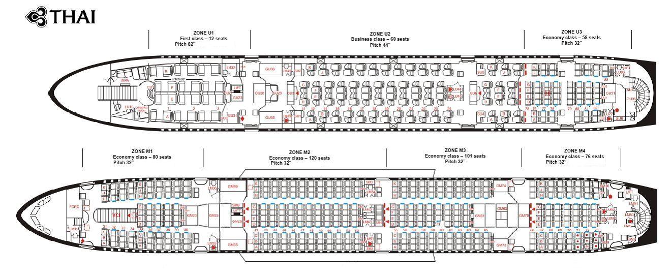 Thai Airways A380 Seatmap A380 Pinterest Thai