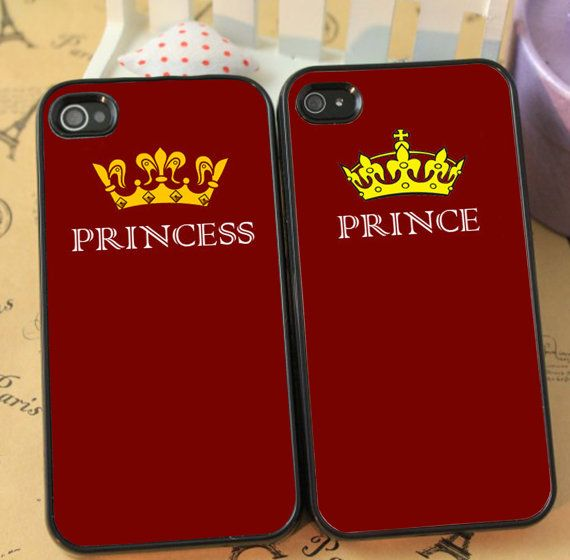 princess And Prince Cute Couple phone case for iphone 4/4s 5/5s Galaxy s3 s4 s5