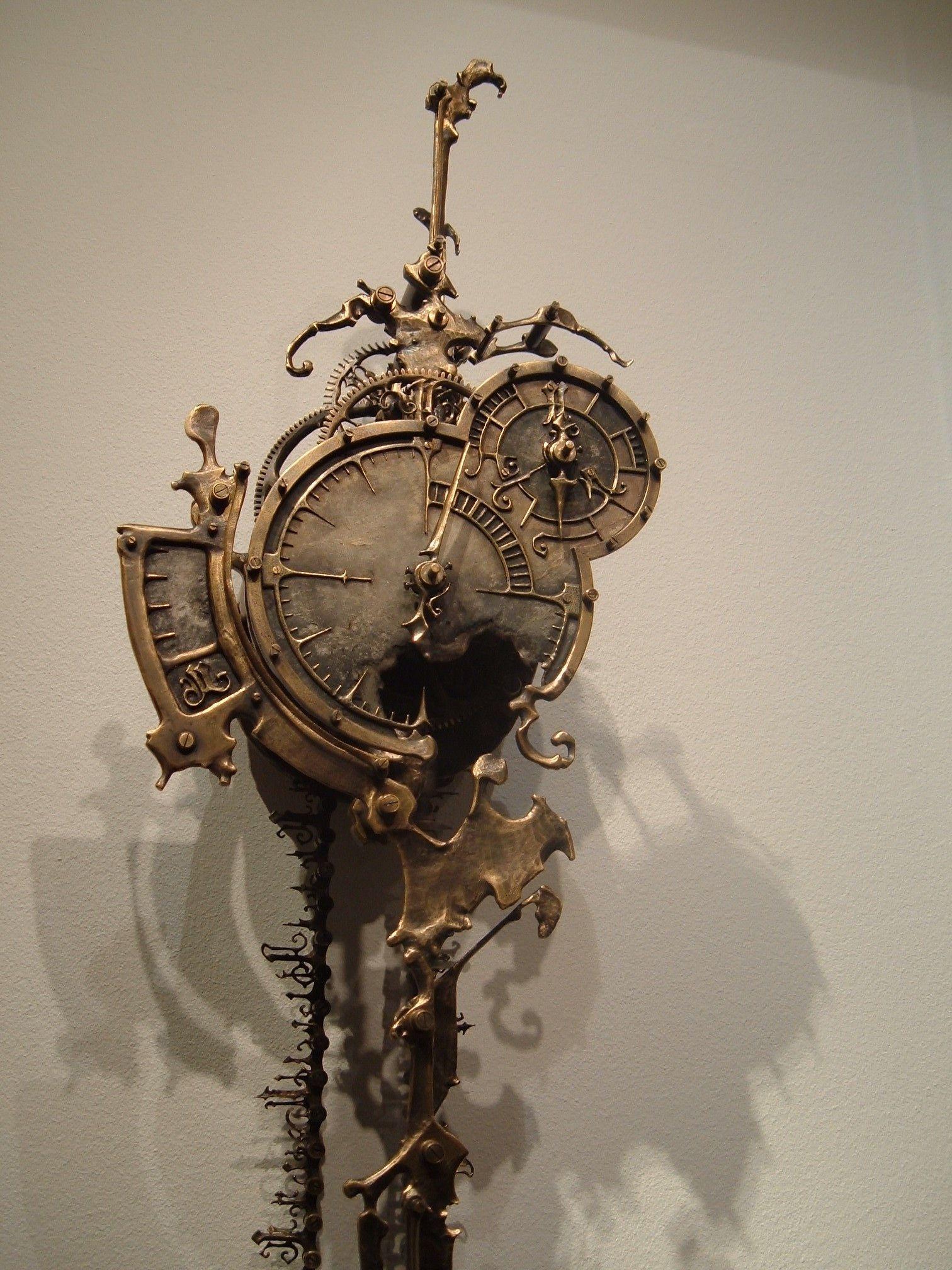 Eric Freitas Mechanical Clock At Steampunk Exhibition